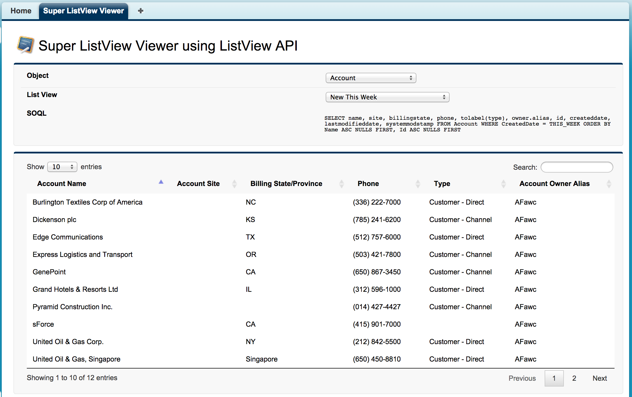 Super ListView Viewer using Winter'15 ListView API | Andy in the Cloud