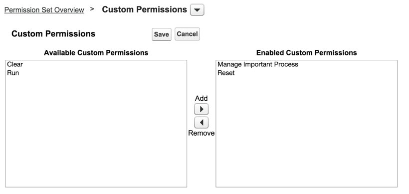 SetCustomPermissions
