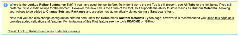 DLRS Custom Metadata Tab Info